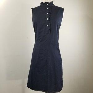 Lands' End Navy Blue Sleeveless Dress